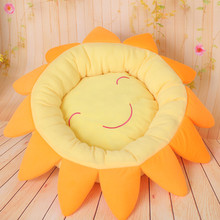 2015 New Winter Warm Sun Flower Dog Pet Nest Direct SalesMat Rose Orange Green 3colors M size Small dog beds