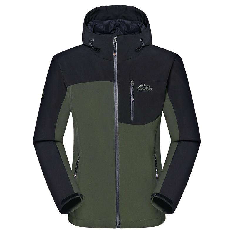 Men's Winter Thick Softshell Jackets Male Outdoor Sports Coats Windproof  Warm Camping Trekking Hiking Ski Brand Clothing VA014