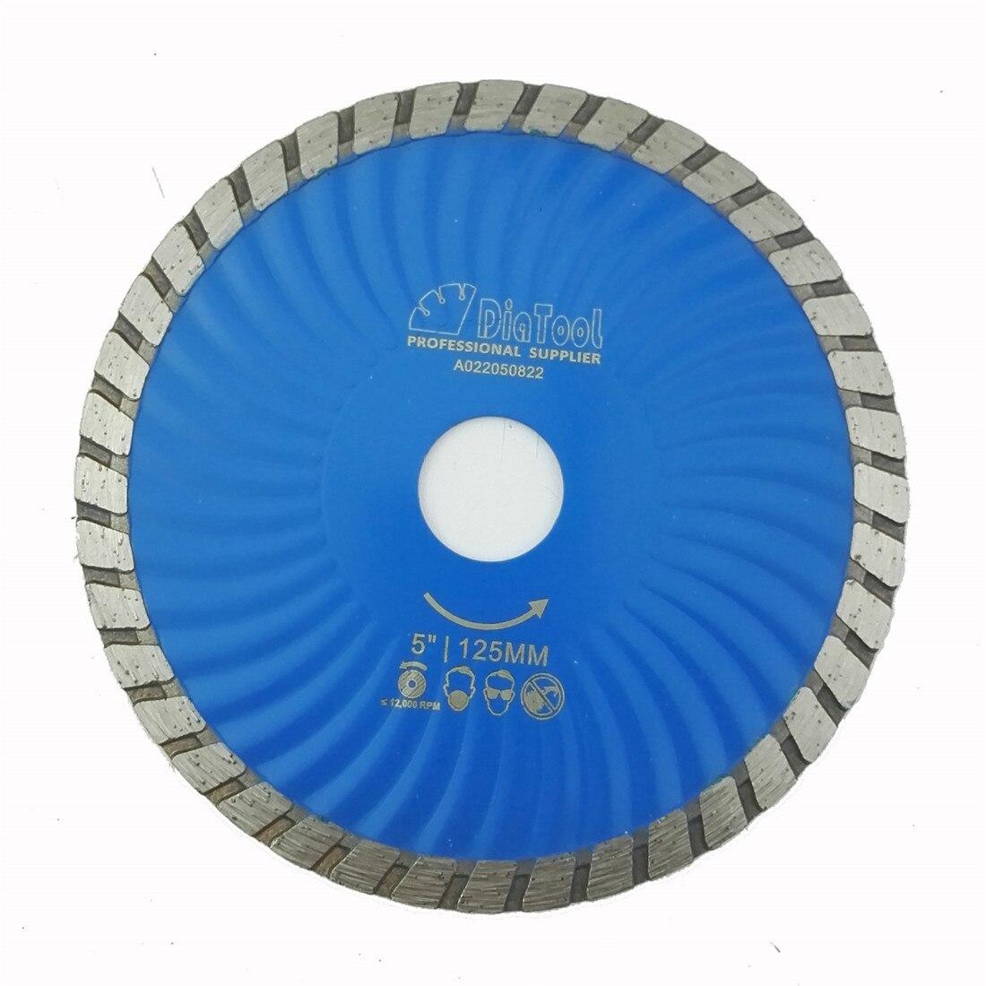 DIATOOL Diameter 125mm Hot Pressed Diamond Waved Turbo Blade 5