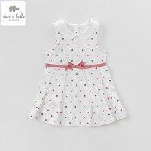 Db5078 데이브 벨라 여름 아기 여자 공주 드레스 베이비 베이지 프린트 드레스 아이 생일 옷 드레스 여자 로리타 드레스