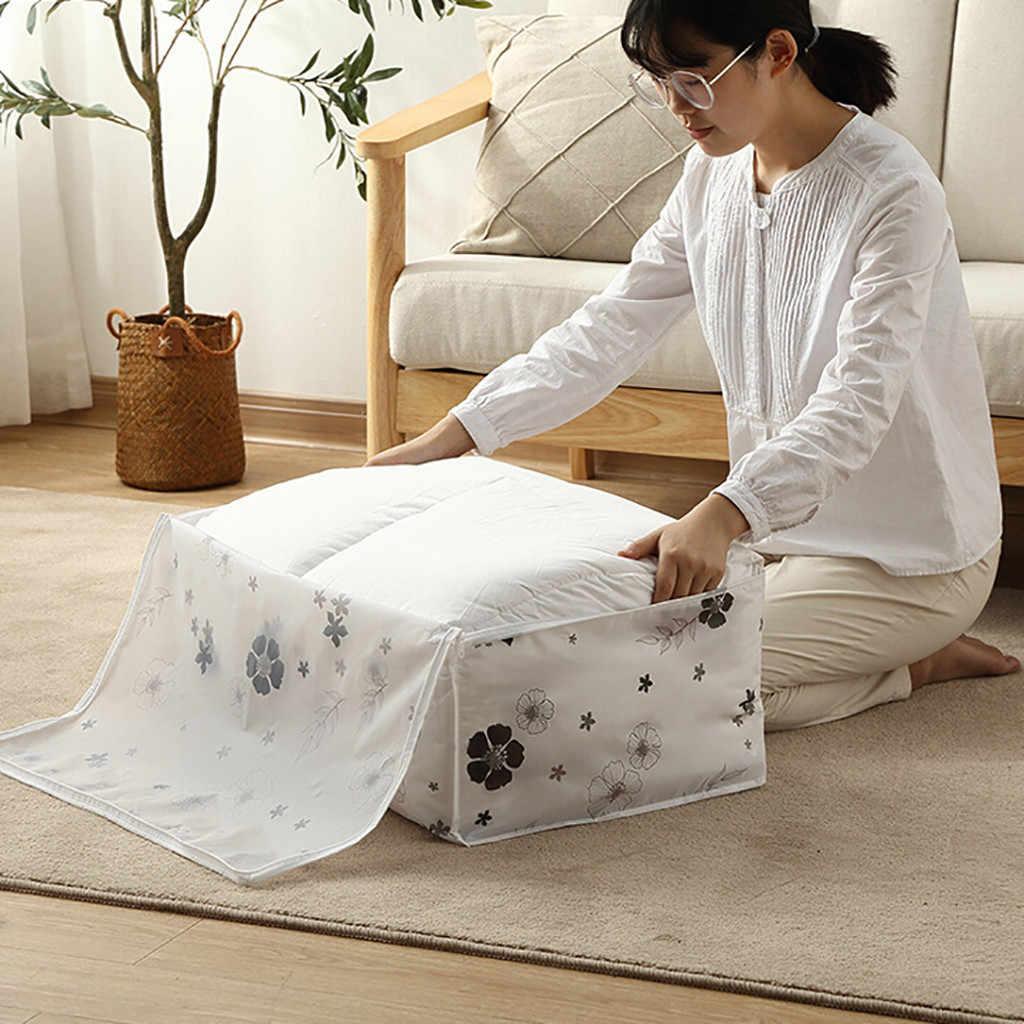 Venda quente Dobrável Saco de Armazenamento De Roupas Cobertor Quilt Closet Sweater Caixa Organizador Bolsas saco dispositivo saco de armazenamento criativo