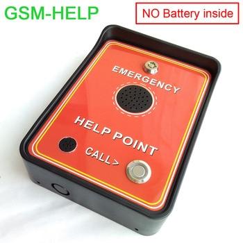 GSM intercom gsm emergency help phone for public area emergency application Double alarm input
