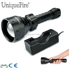 UniqueFire 1405 IR 850NM Illuminator Night Vision LED Flashlight Rechargeable 67mm Convex Lens 3 Modes Torch Light+Charger