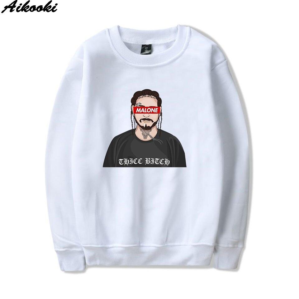 Rap Music T Shirt Men Post Malone Nice 90s Screen Printing Shirts Mooi Premium Sweater Top Unicorn Size M Aikooki 2018 New Print Hooded Hoodies Women Fashion Sweatshirts Pullover