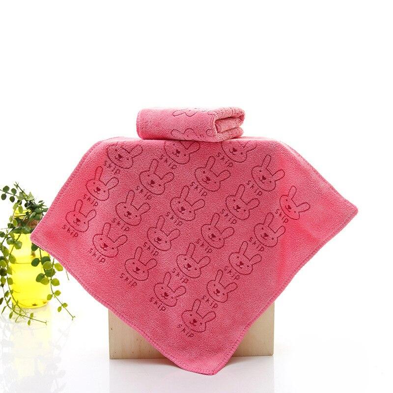 New Style 25*25cm Microfiber Kids Children Bibs Bathroom Hand Hair Face Towels