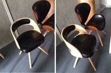 European popular bar chair hotel restaurant shop stool black white seat free shipping