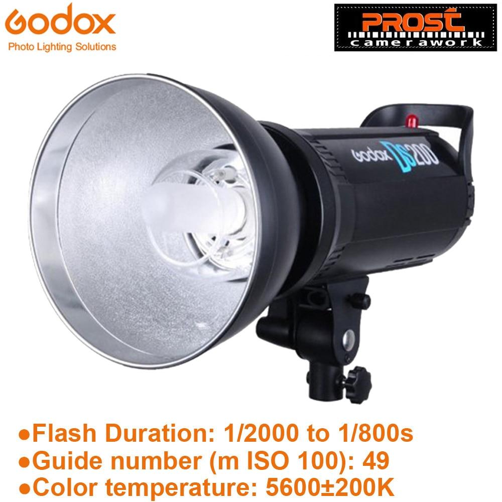 Godox DS200 200Ws 사진 스튜디오 스트로브 플래시 라이트 램프 헤드 200W 110V-220V