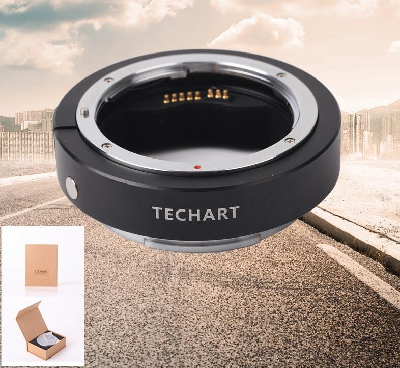 Techart EF-GFX EF-FG01 Canon EF Lens pour Fujifilm GFX Autofocus Adaptateur EXIF firmware UPR