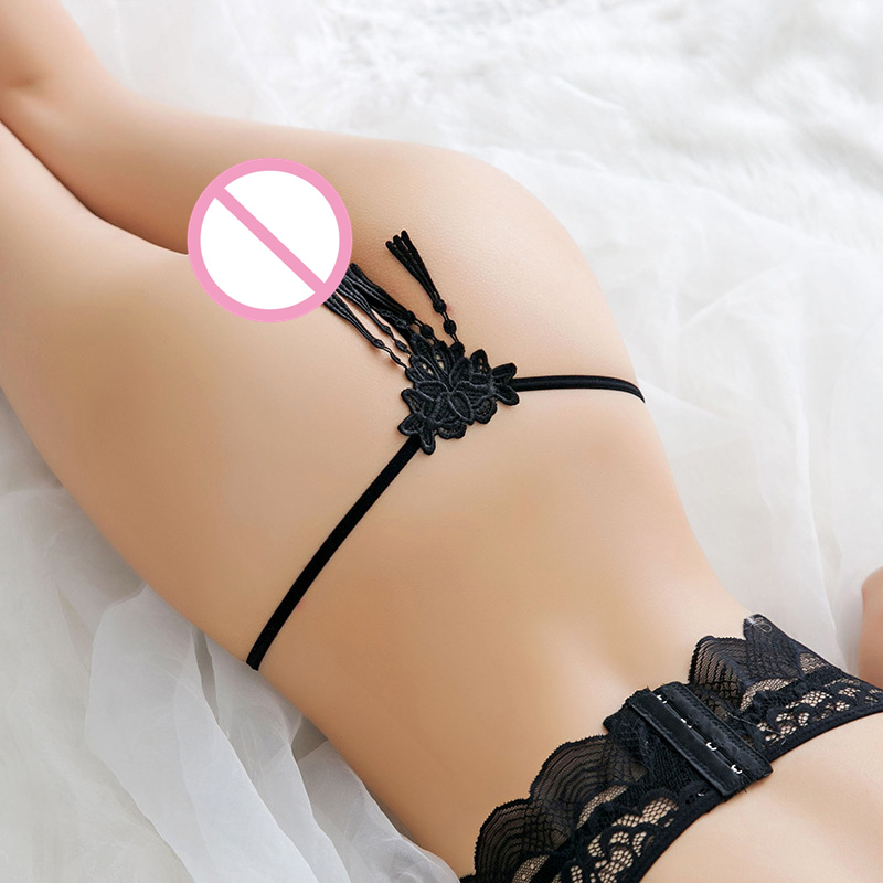Women Sexy Tassel Thong Bandage G-String Briefs Erotic Women Low Waist Women Thongs And G Strings Female Lace Panties Lingerie