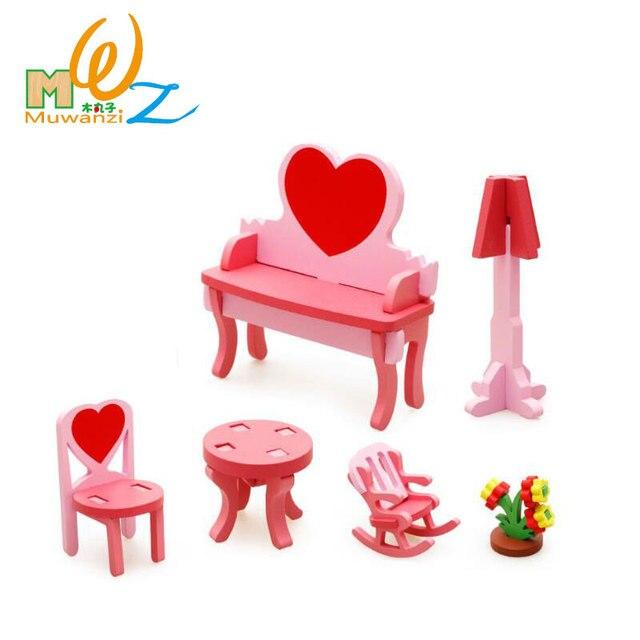 MWZ 3D Wooden Assembling Dressing Table Set Kids Educational Puzzle ...