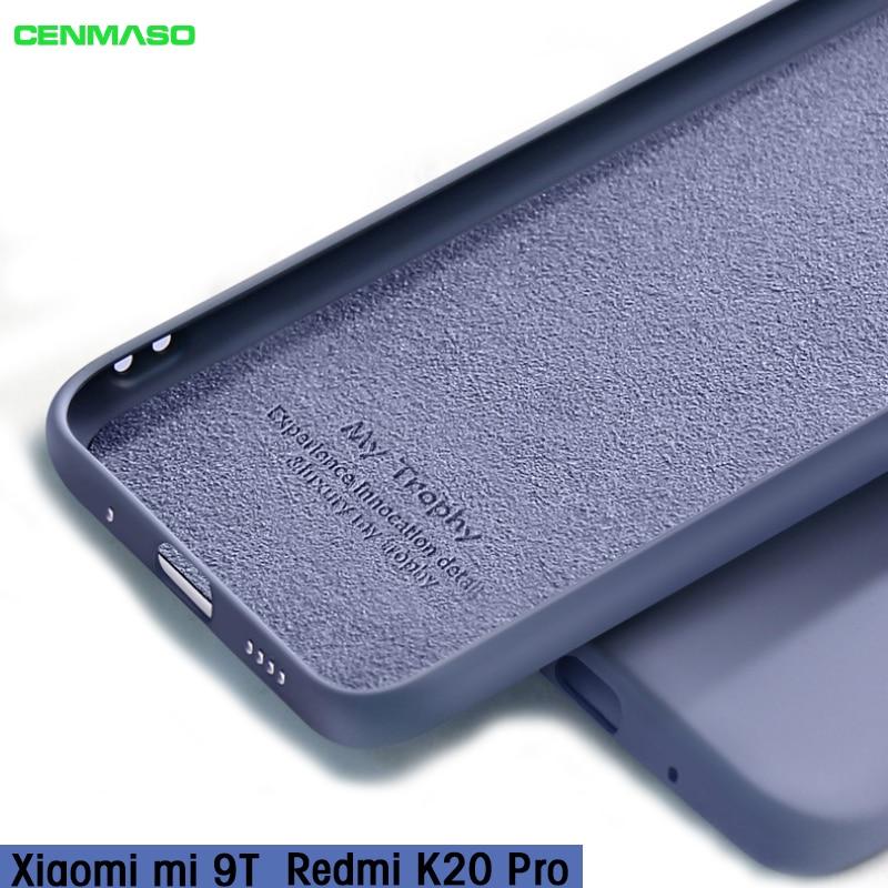 For Redmi K20 Case For Redmi K20 Pro Ultra Thin Liquid Soft Silicone Back Cover Case For XIAOMI MI 9T Mi9t Shockproof Full Cases