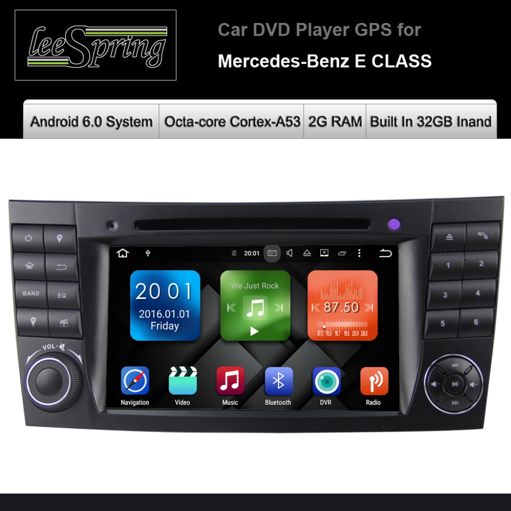 android 6 0 car dvd gps radio stereo for mercedes benz e class w211 w219 w463 gps navigation. Black Bedroom Furniture Sets. Home Design Ideas