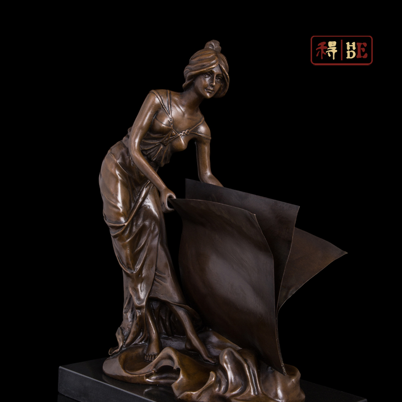 Wo have copper crafts ornaments Home Furnishing housewarming gift book study decoration girl DS-398Wo have copper crafts ornaments Home Furnishing housewarming gift book study decoration girl DS-398
