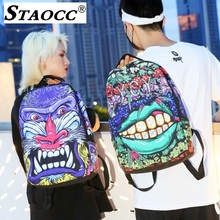 2019 3D Cartoon Anime Print Backpack Women Casual Travel Mochila School Laptop Bag Oxford Hip Hop Men Bagpack Sac A Dos