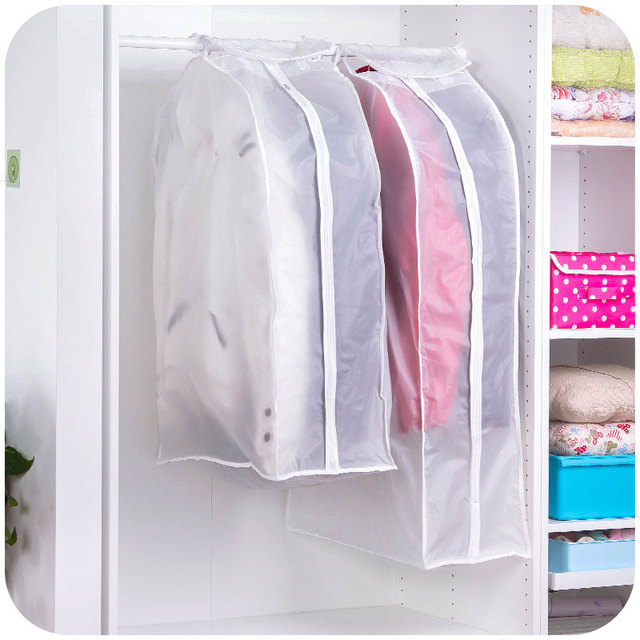 Transparent Storage Bags Cover Clothes Protector Garment Suit Coat Dust  Cover Protector Dustproof Storage Bag Organization