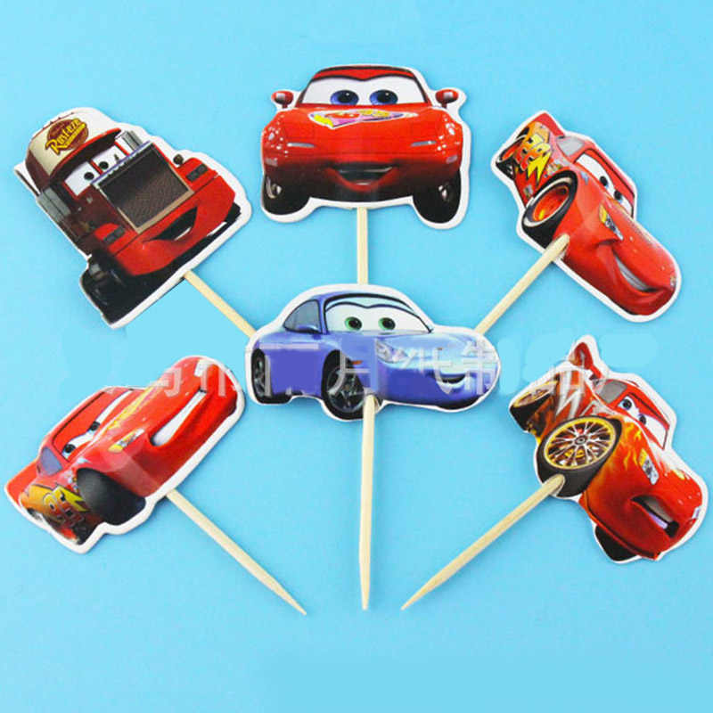 24 Pcs48 Pcs Disney Mobil Lightning Mcqueen Balap Mobil Topper Kue Untuk Dekorasi Kue Ulang Tahun Pesta Pernikahan Pemasok
