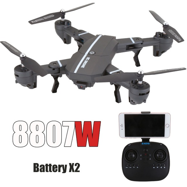FPV Quadcopter 8807W with Camera 2.4G 6-Axis RC Quadcopter Drone Toy 3D flip Altitude Hold A Key Return RC Helicopter VS XS809HW