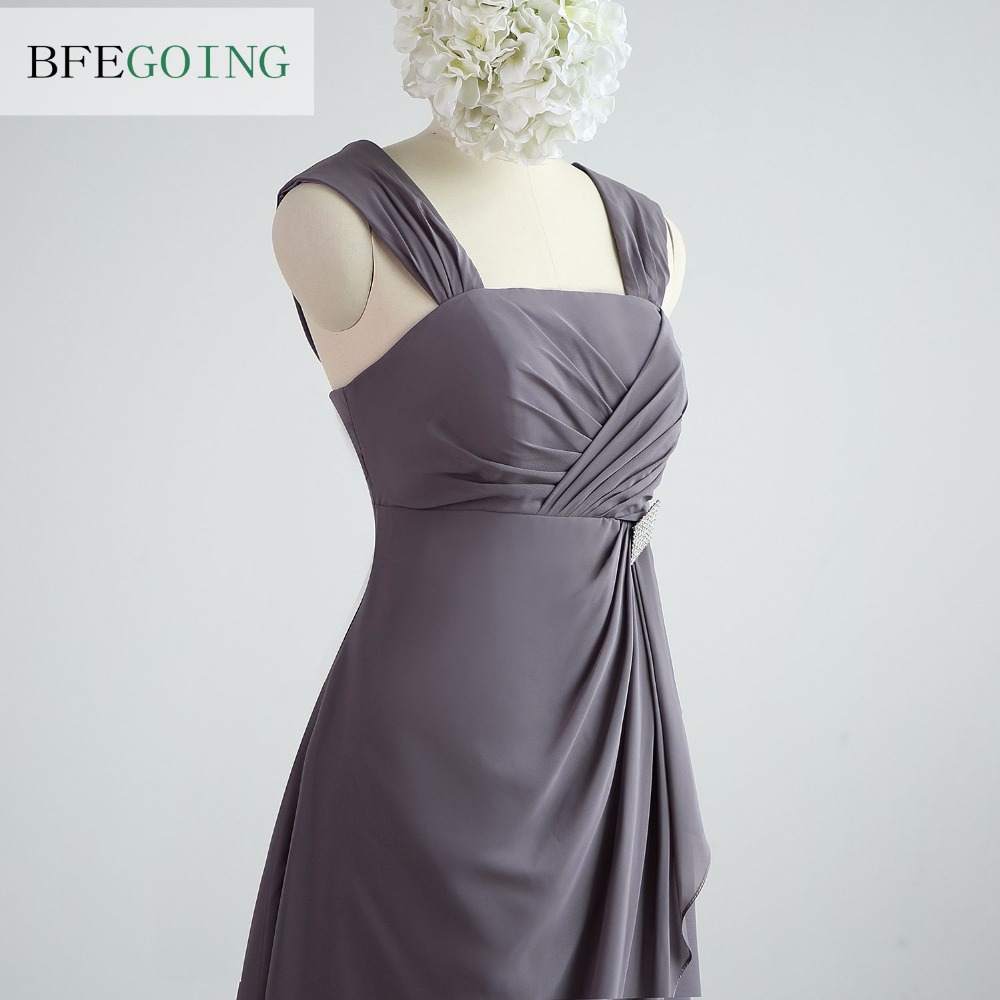 Wunderbar Graues Chiffon Kleid Brautjungfer Ideen - Brautkleider ...