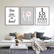 купить Nordic Minimalis Typography Print Sweet Romantic Love Quotes For Beloved Art Canvas Painting For Wall Picture Posters Home Decor в интернет-магазине