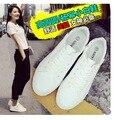 Весной и осенью низкой холст обувь женская мода дышащая белая ткань повседневная обувь удобную обувь