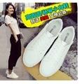 Primavera y otoño zapatos de lona bajos de las mujeres de moda blanco transpirable zapatos de tela casuales zapatos sólidos