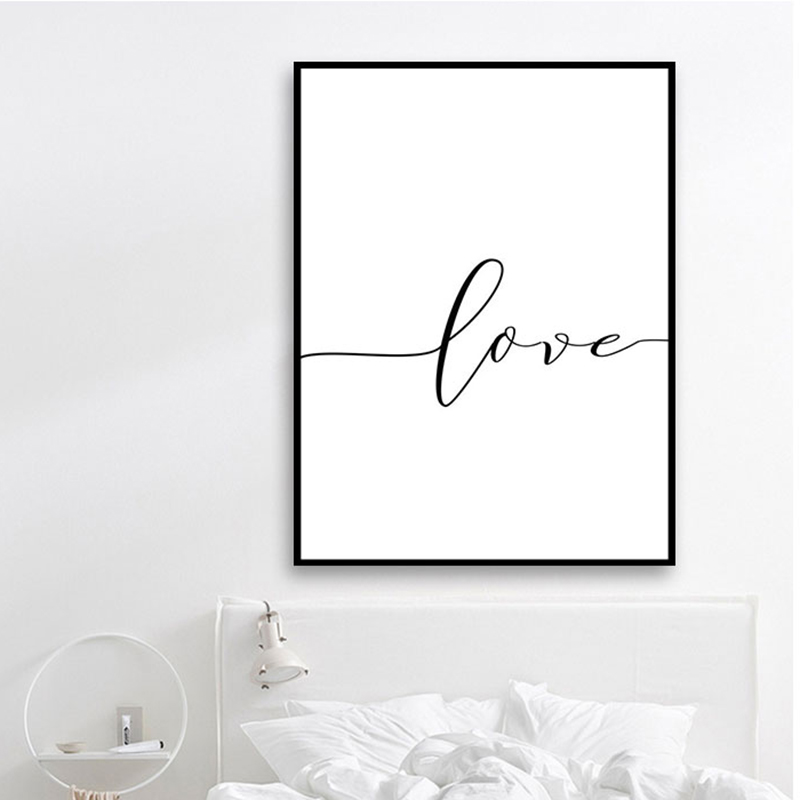 HTB1ZiNtaPDuK1Rjy1zjq6zraFXaS Nordic Poster Black And White Holding Hands Picture Canvas Prints Lover Quote Painting Wall Art For Living Room Minimalist Decor