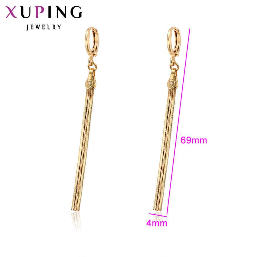 Xuping Simple et élégant longues boucles d'oreilles avec environnement cuivre femmes filles fête des mères bijoux cadeau S96, 3-96985