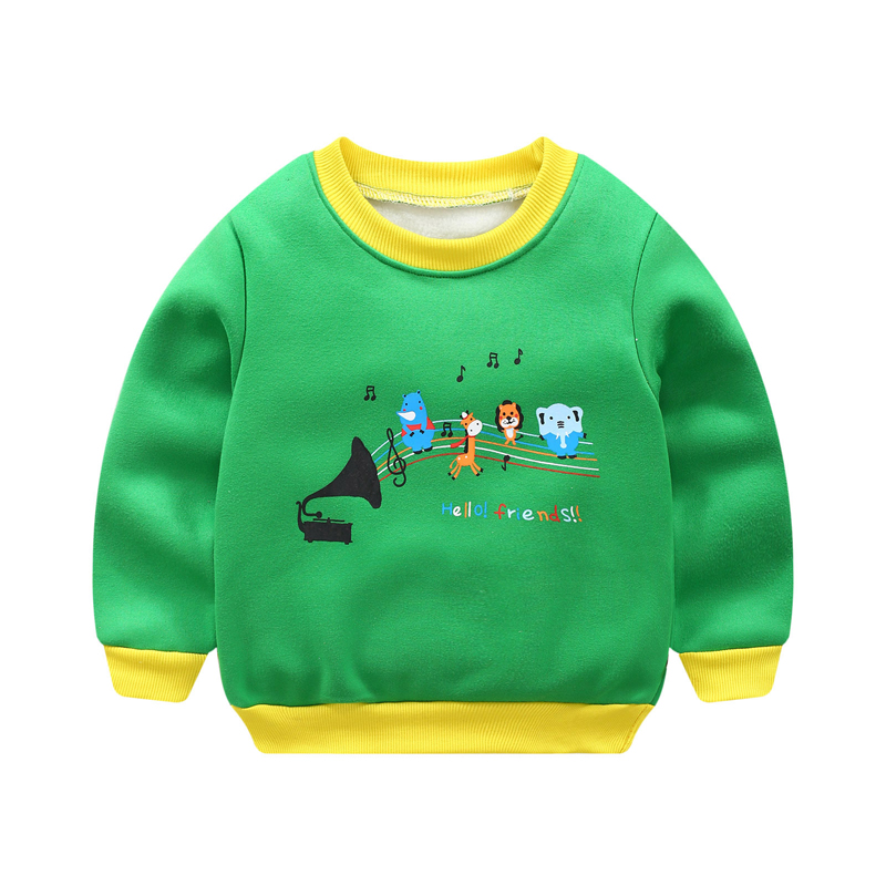 Autumn Winter Infant Boy Girls Sweater Clothes Toddler Thick Sweatshirts Baby Casual Kids Plus Velvet Thick Tops Costume(China)