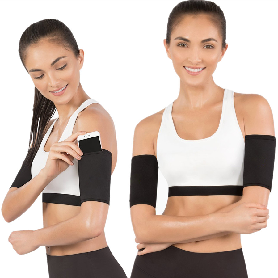 RiauDe Arm Warmers Slimming Arm Sleeves Hand Slimmer Neoprene Fitness Body Shaper Weight Loss 1 Pair Burning Fat Shapewear Strap