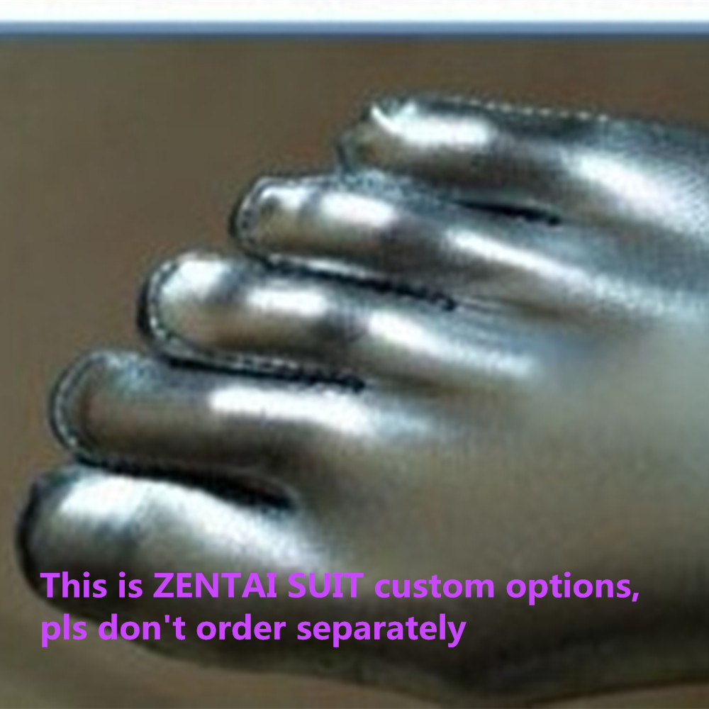 (CT02) Customize Option Of separate toes/ with inner leg zipper instead of back zipper