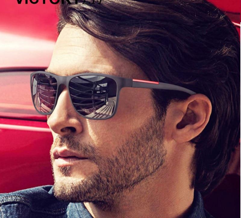 Солнцезащитные очки для мужчин, зеркальные, для вождения, брендовые дизайнерские, высокого качества