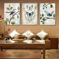 YongHe Nordic Decorative Painting Birds and Butterfly Customizable Sizes Spray Painting Oil Paintings Wall Poster For Bedroom