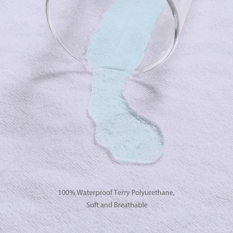 160x200cm Terry Cotton Waterproof Mattress Protector 100% Waterproof Mattress Cover Hypoallergenic Machine Washable(China)
