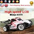 RC Автомобилей Заболоченных K979 Wltoys RC Супер Гоночный Автомобиль 4WD 2.4 ГГц дрейф Дистанционного Управления Toys 1/28 Высокоскоростной 30 км/ч Автомобиль ПРОТИВ A979