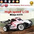 Veículos RC Wltoys K979 Pantanoso Super Carro de Corrida RC 4WD 2.4 GHz controle remoto deriva toys 1/28 de alta velocidade 30 km/h vs carro a979