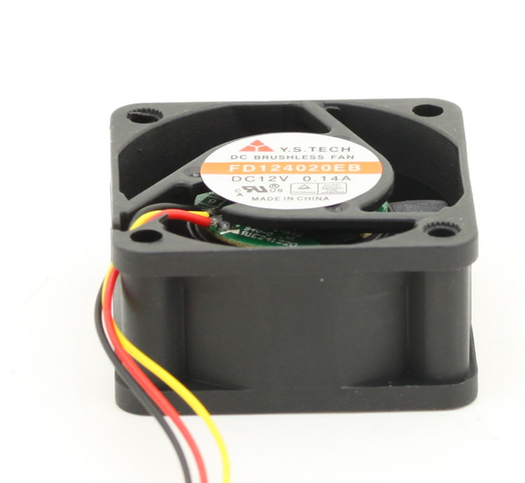 Free Shipping 3pin Mute FD124020EB Cooling Fan 40x40x20mm For Y.S Tech 12VDC 0.12A