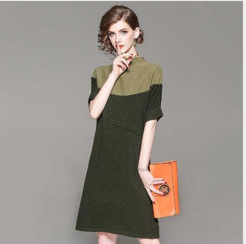 Femmes Solide De Casual 2018 Courtes Automne Tricot Fit Outwear Robe green Chandails Longue À Slim Pull Nouveau A Manches ligne Section Coffee Chandail f8fF4nrx