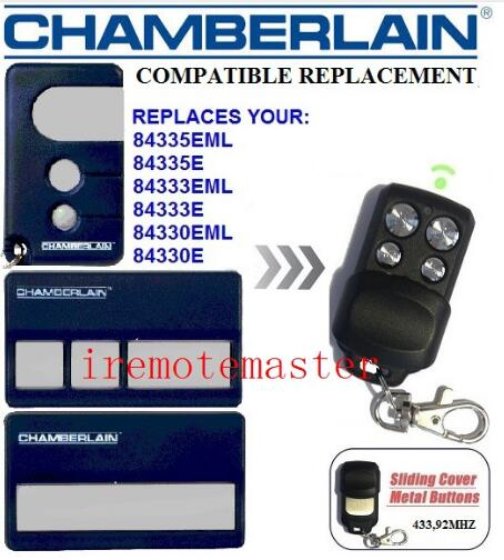 2 pieces/lot! Compatible CHAMBERLAIN LIFTMASTER 84335EML,84335E,84333EML,84330E repalcement remote