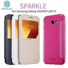 Чехол Для Samsung Galaxy A5/A3/A7 2017 NILLKIN Искра Флип Кожаный Чехол Телефон Случаях Для Samsung Galaxy A520F/A320F/A720F Случае