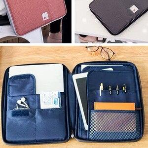 Image 2 - Đa chức năng Chống Nước A4 Lưu Trữ Tài Liệu Túi Bàn Fille Thư Mục Người Tổ Chức Ốp Lưng Laptop Công Sở Dây Kéo Túi Dành Cho Nam Nữ