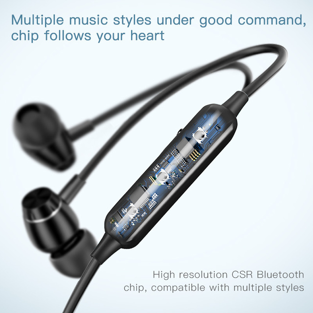 Baseus S09 Bluetooth Earphone Wireless headphone Magnet Earbuds 5