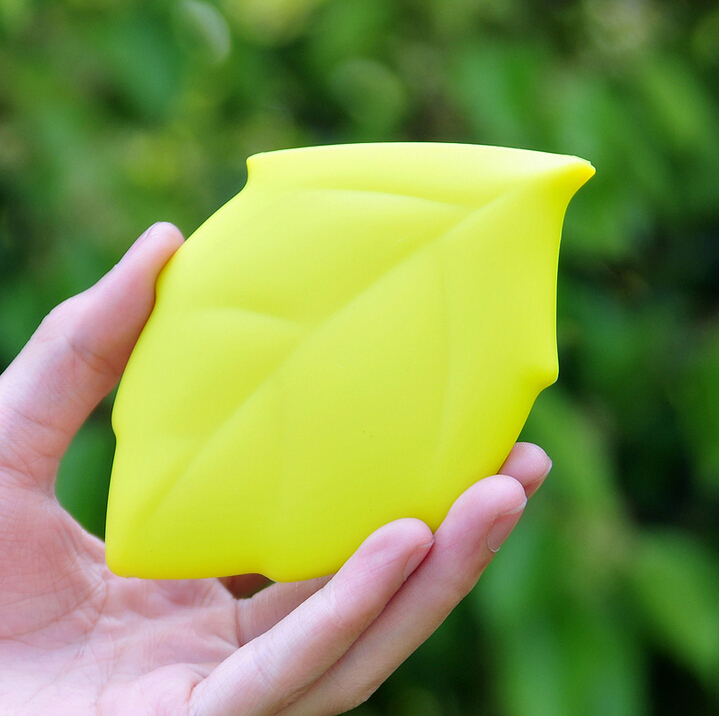 Cute Maple Leaf Portable 100% Silicone Drinking Wash Gargle Travel Cup Badeværelse MINI Gargle Pocket Camping Nesscry Sundt