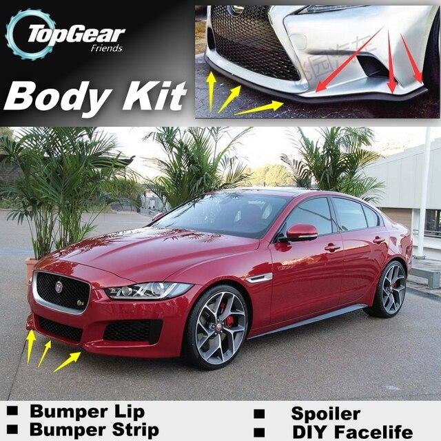 bumper lip deflector lips for jaguar xe 2015 front spoiler. Black Bedroom Furniture Sets. Home Design Ideas
