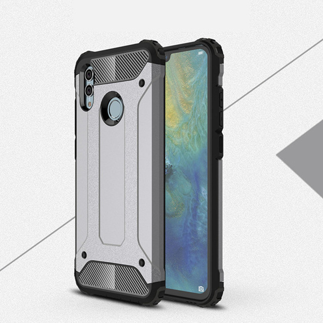 Rugged Soft Cover For Huawei Honor 10 Lite P Smart 2019 Anti Knock Phone Case Hybrid Hard Tough Dual Layer Armor Shockproof Case in Fitted Cases from Cellphones Telecommunications