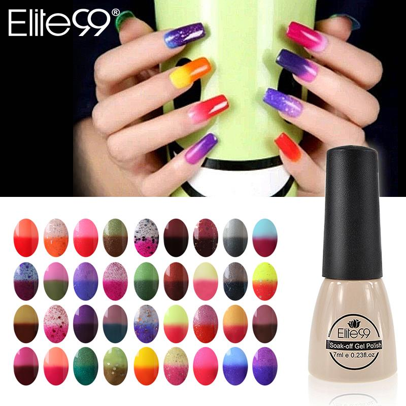 Elite99 7ml Color Changing Nail Polish Chameleon Gel Need Uv Lamp Curing 96 Color Art Gel To