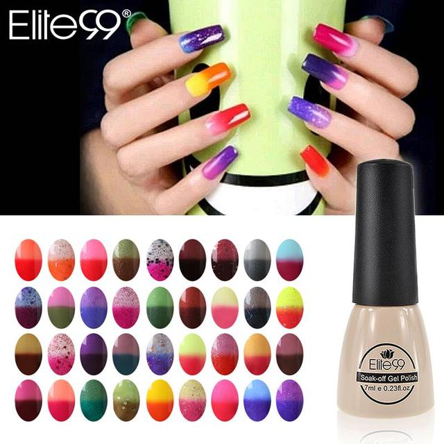 Elite99 7ml Color Changing Nail Polish Chameleon Gel Need UV Lamp ...