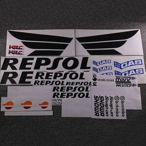 Мотоцикл обтекатель комплект наклейки Наклейка для Honda Repsol RCV CBR 250 600 1000 RR VTR HRC полный стикер s Наклейка деколь
