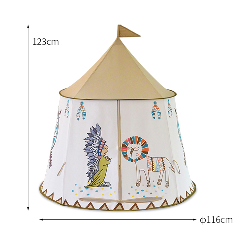 Yard Kids Tents Cartoon Portable Cute Lion Present Hang Flags Baby Children Play Tents Playhouse Large Room 116 123CM Kids Tent in Toy Tents from Toys Hobbies