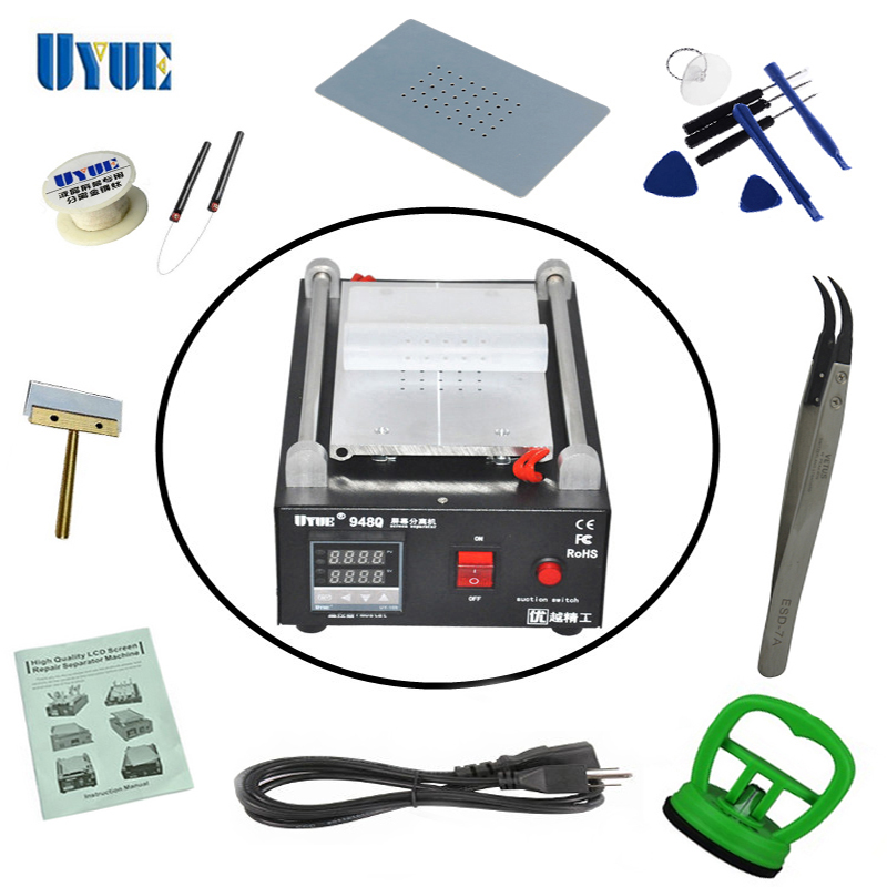 ФОТО UYUE 948Q High Quality 110/220V Build-In Air Pump Vacuum LCD Screen Separator Machine Repair Machine For Phone+Gifts
