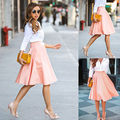 New Fashion Trends Womens Slim Thin High Waist Pleated  Skirts Mini Skirts  Playful